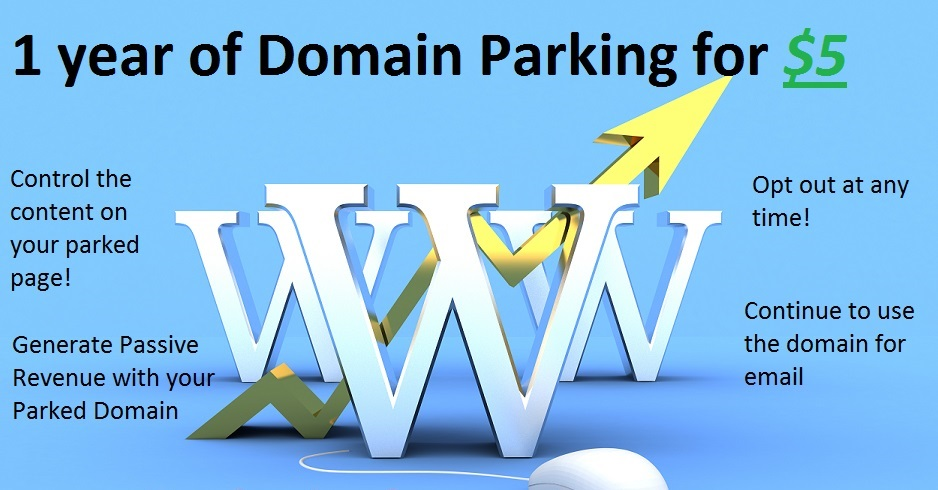 park your domain for 1 year with email accounts