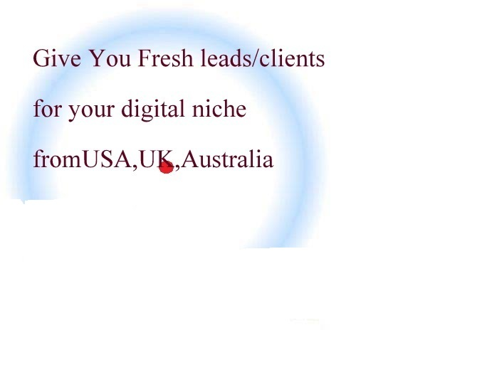 give you fresh high paying leads to any digital niche from USA,UK,Australia!!