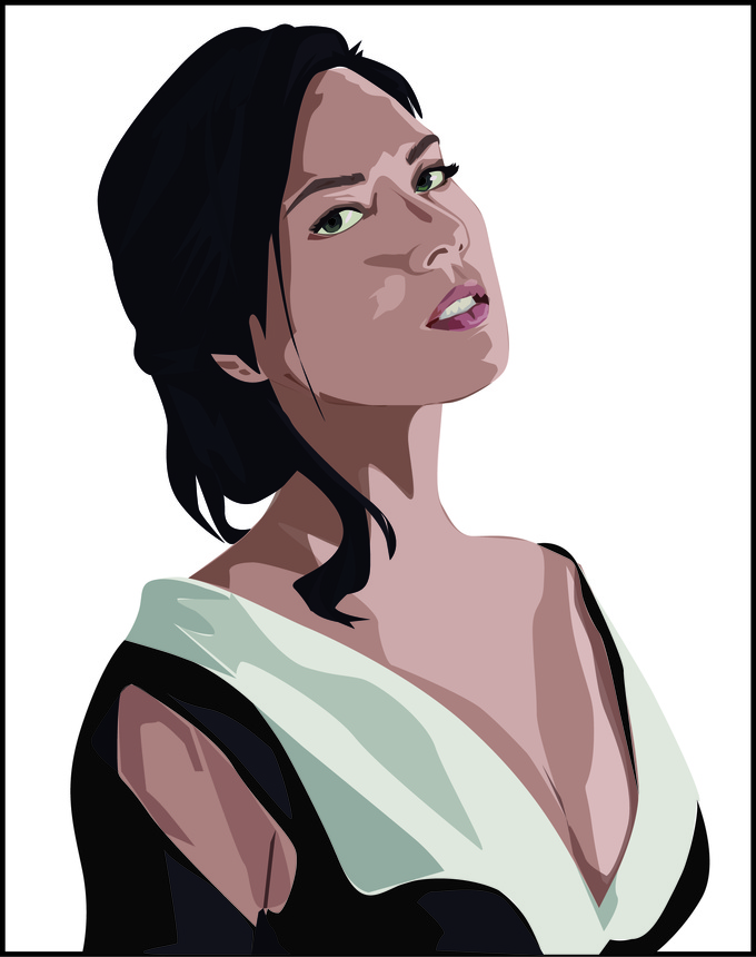 turn you into digital, vectorizing your photo