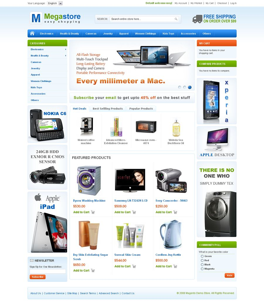 make an online store or e-commerce site
