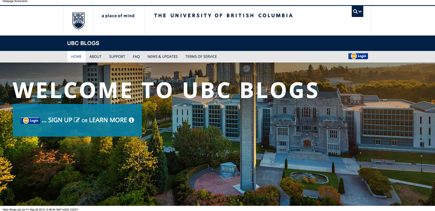 post your content on a canadian university blog