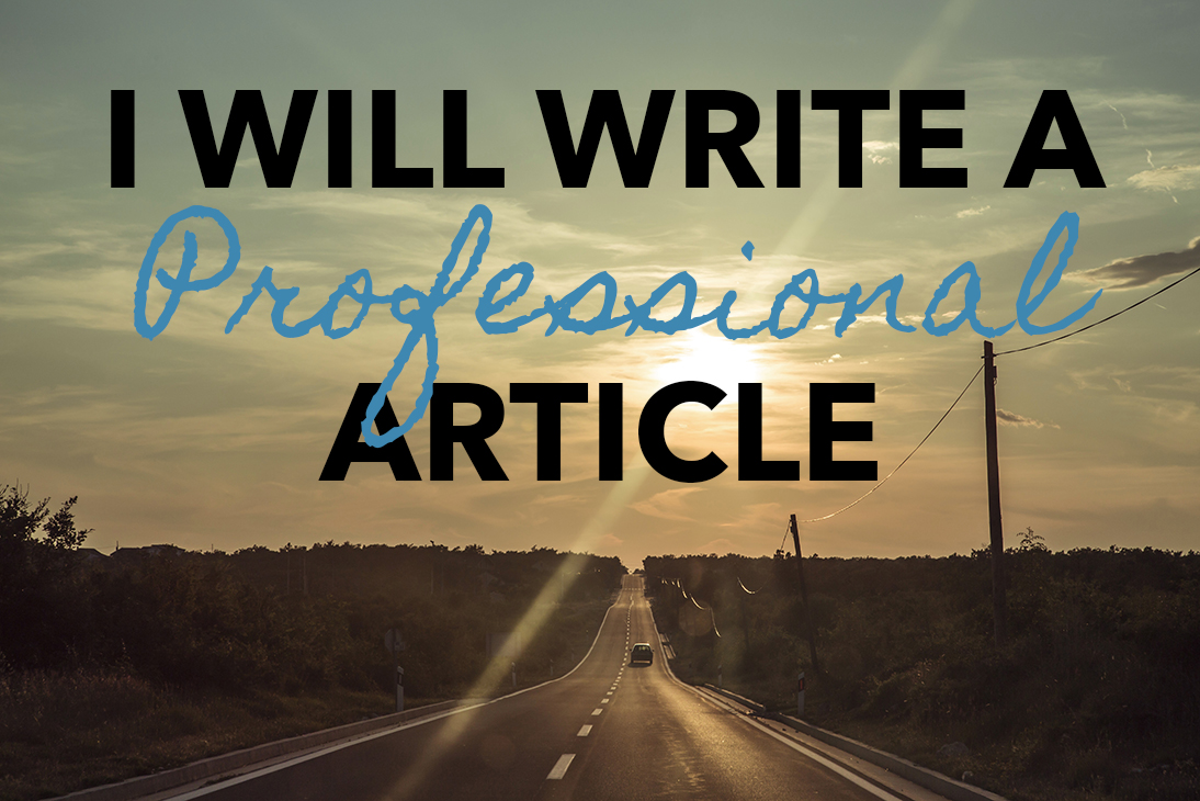 write a professional article for any purpose