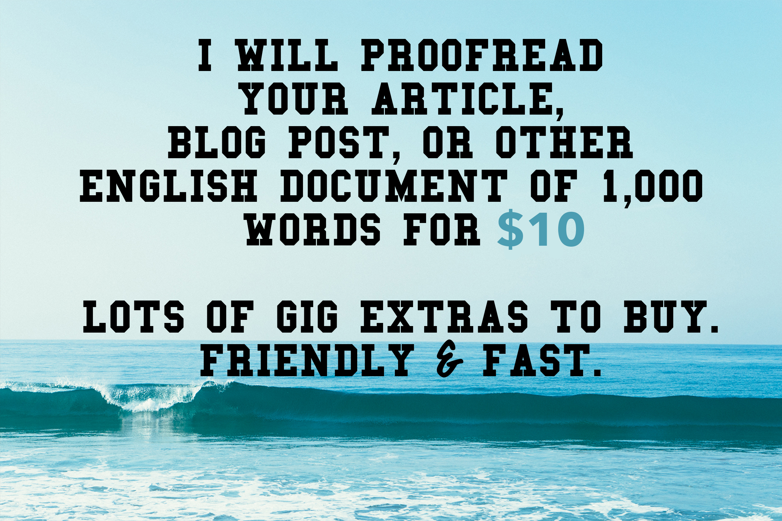 proofread your document, article or blog post of 1000 words