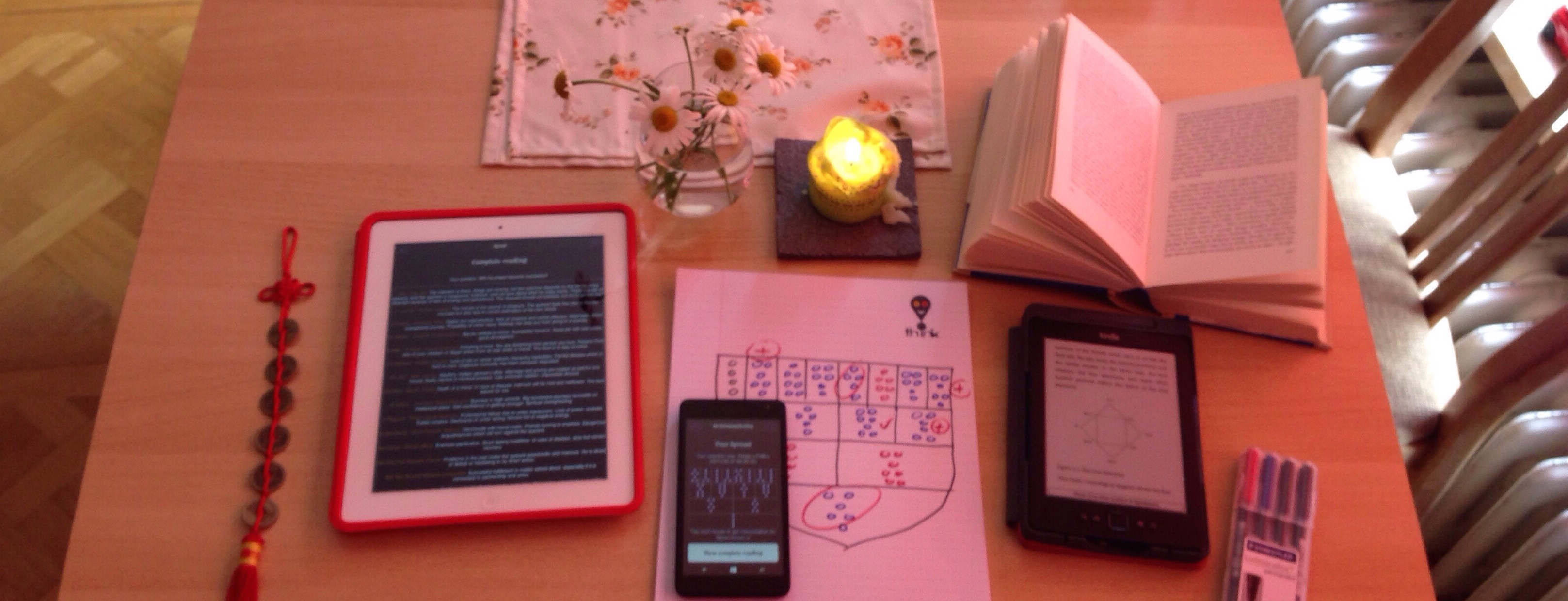 create and interpret psychic reading using GEOMANCY