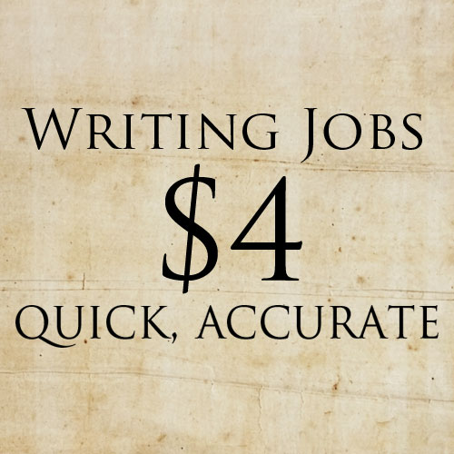 do quick, accurate writing work - from proofreading to reviews to translations and more!