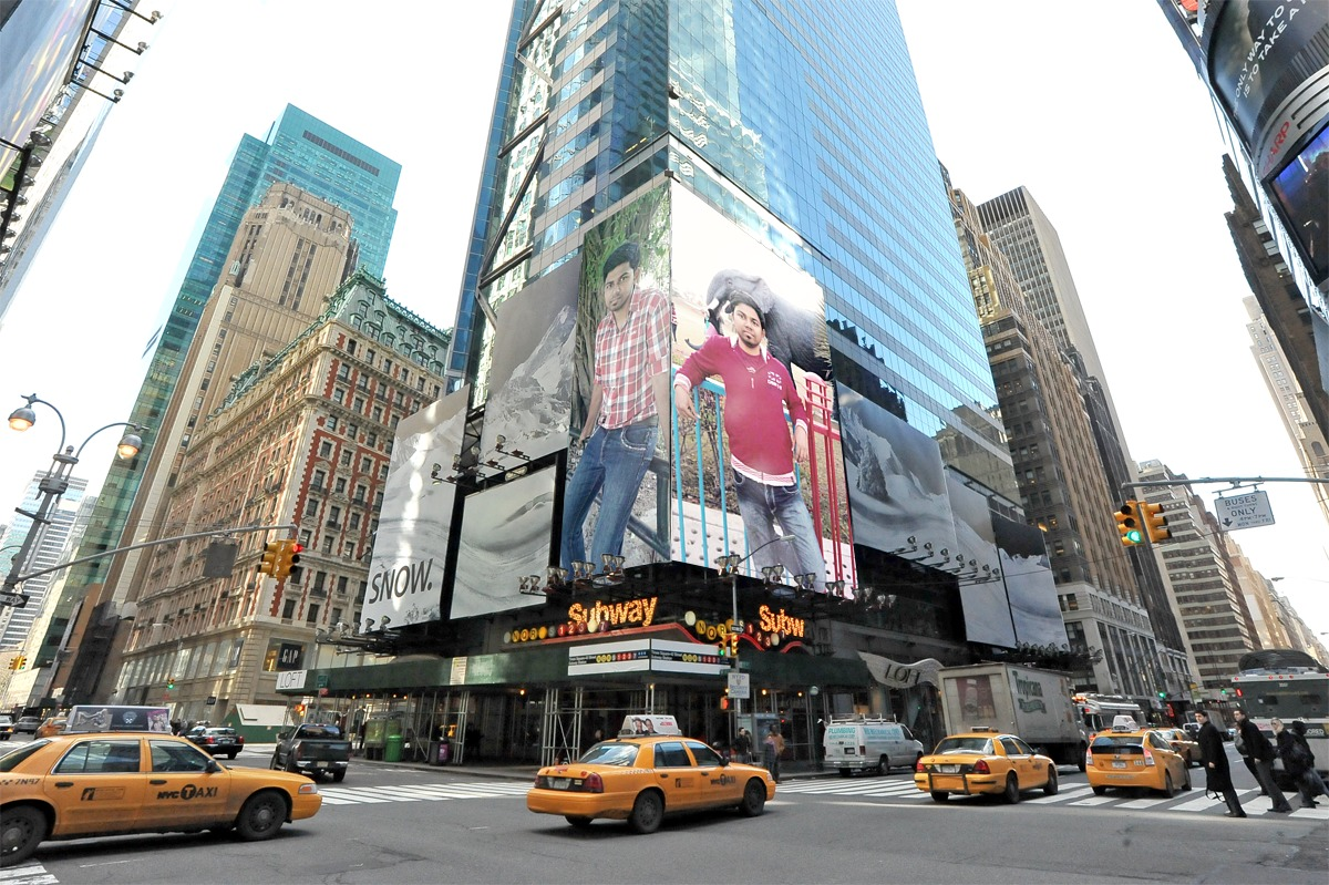 put your logo ,photo or any picture on 5 billboards at famous places virtually