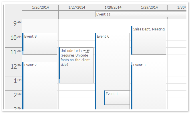 awesome jquery ajax calender in just