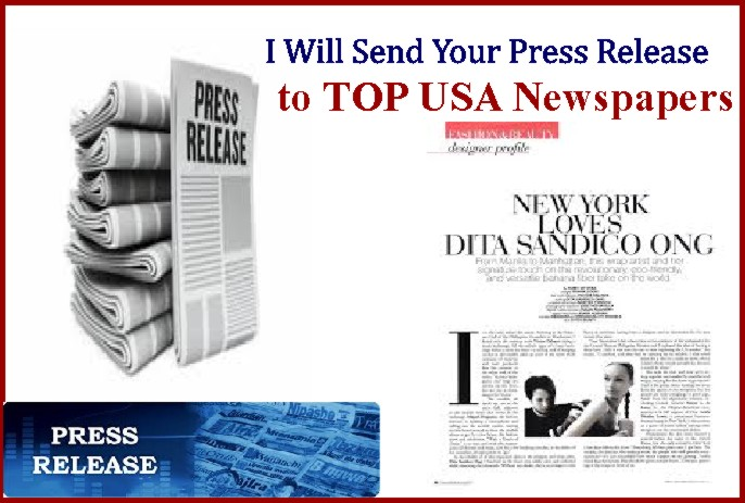 send your Press Release to Top 50 USA and Uk Newspapers
