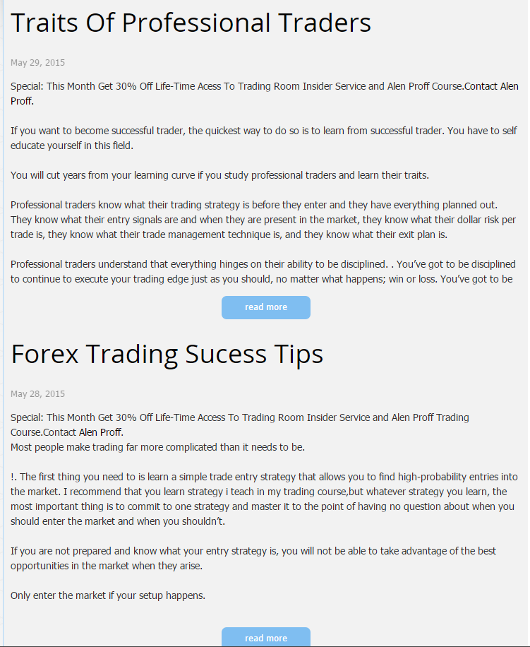 write articles,or daily updates on forex analysis