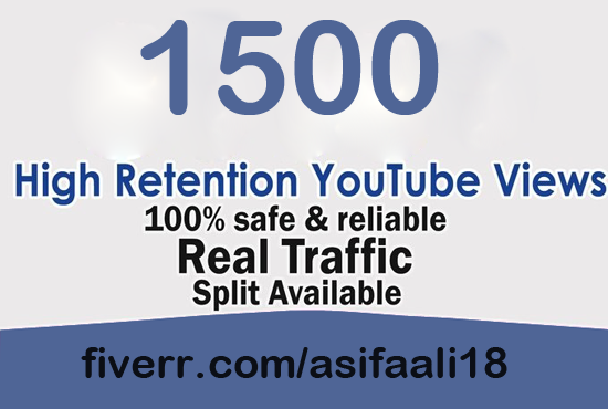 give you 1500 Real Youtube Views, Comments, Likes, Subscribes