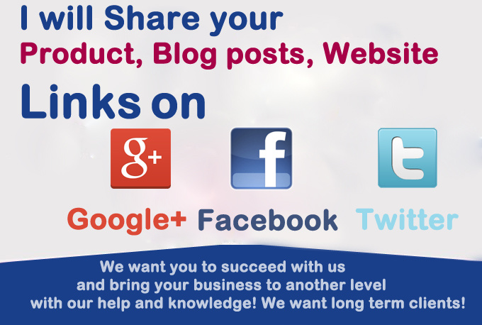 do 15 Twitter Tweets,7 Google plus and 15 Facebook share