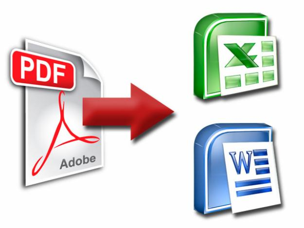 convert PDF to Word or Excel for