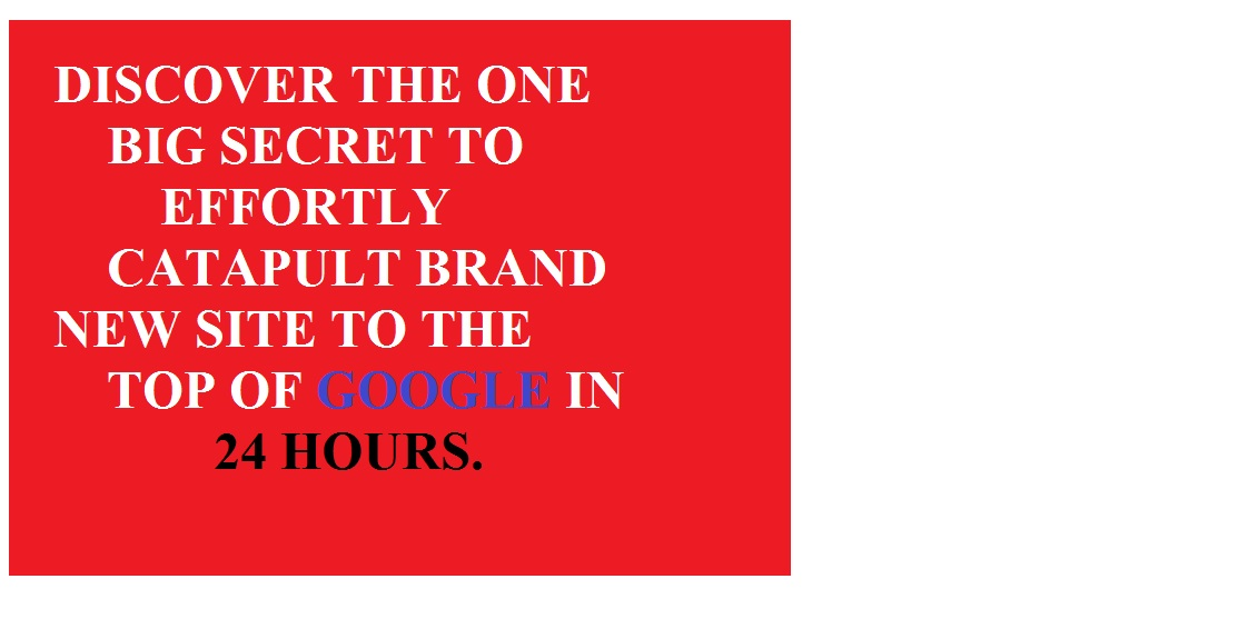 Teach ONE BIG SECRET To Effortlessly Catapult Brand New Sites To The Top Of Google In 24 Hours Or Less