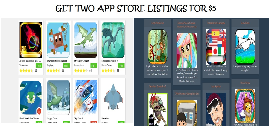submit your FREE App to Two App Stores