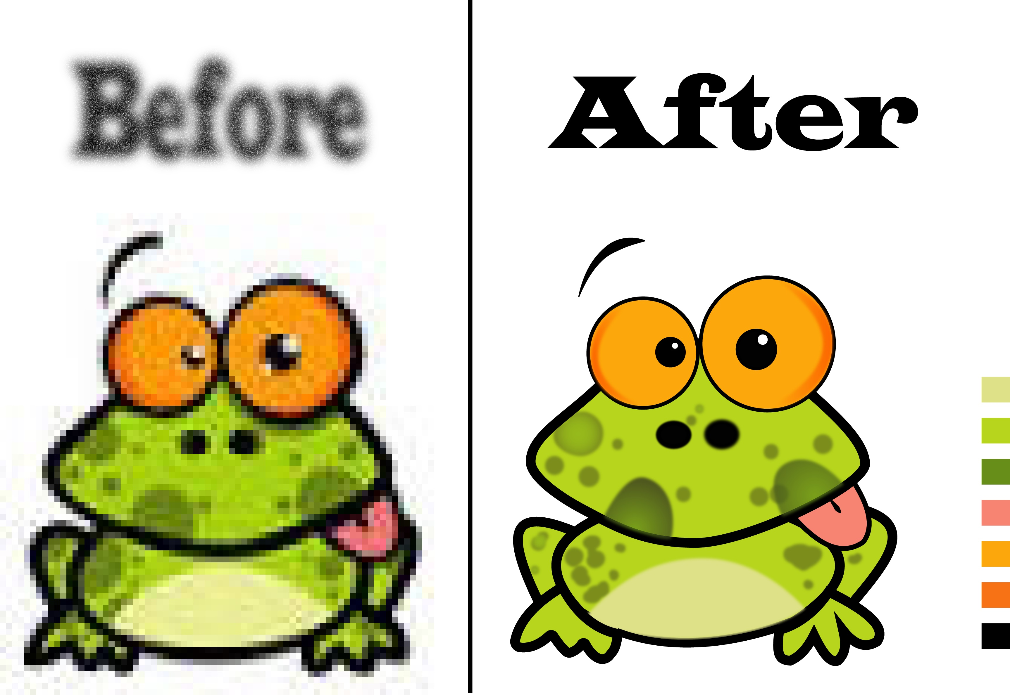 redraw your low quality image or logo into vector
