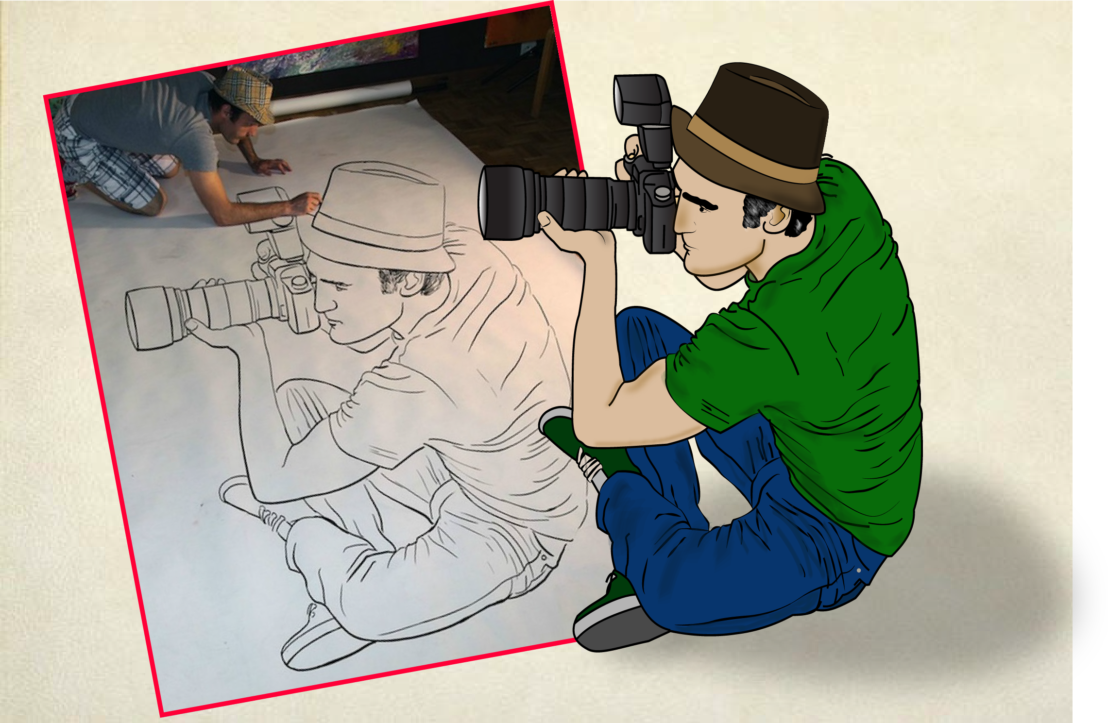 convert skatch or pencil drawing to vector