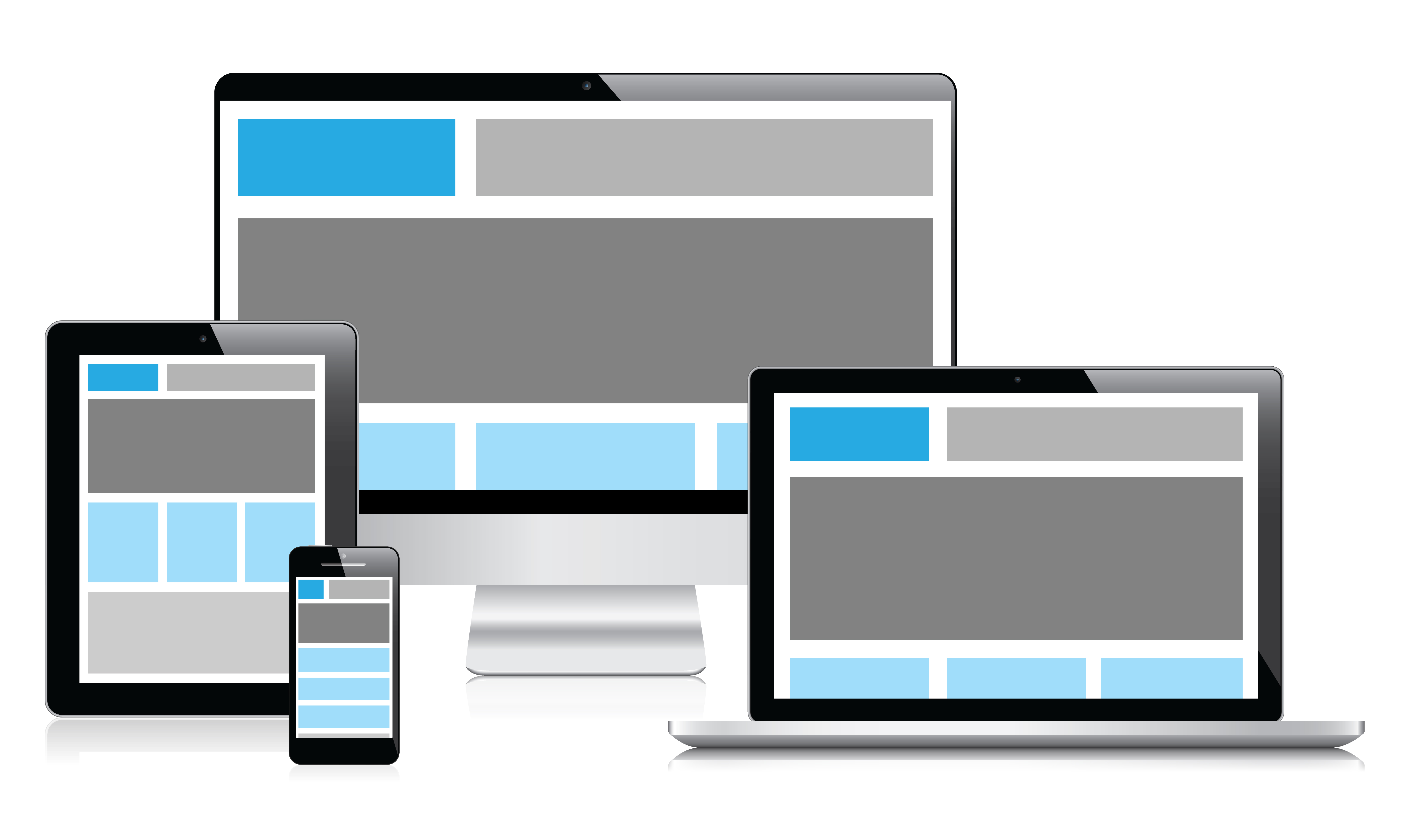 make a 4 page responsive website