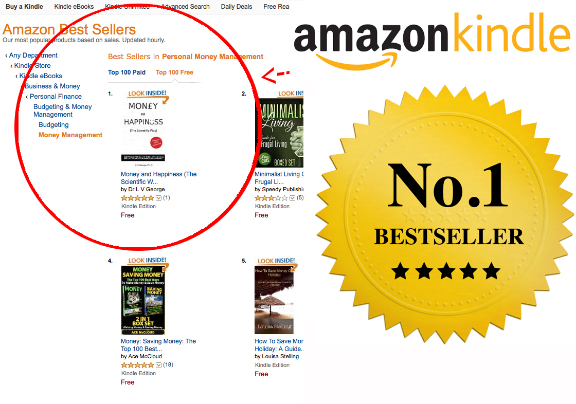 give secrets to get you no 1 BESTSELLER in FREE Kindle categories