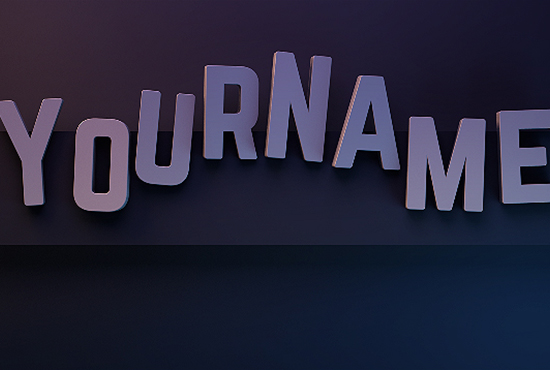create a professional 3D text animation
