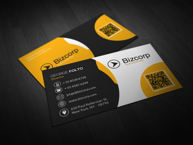awesome 2 Sided Business Card Vista Print Ready