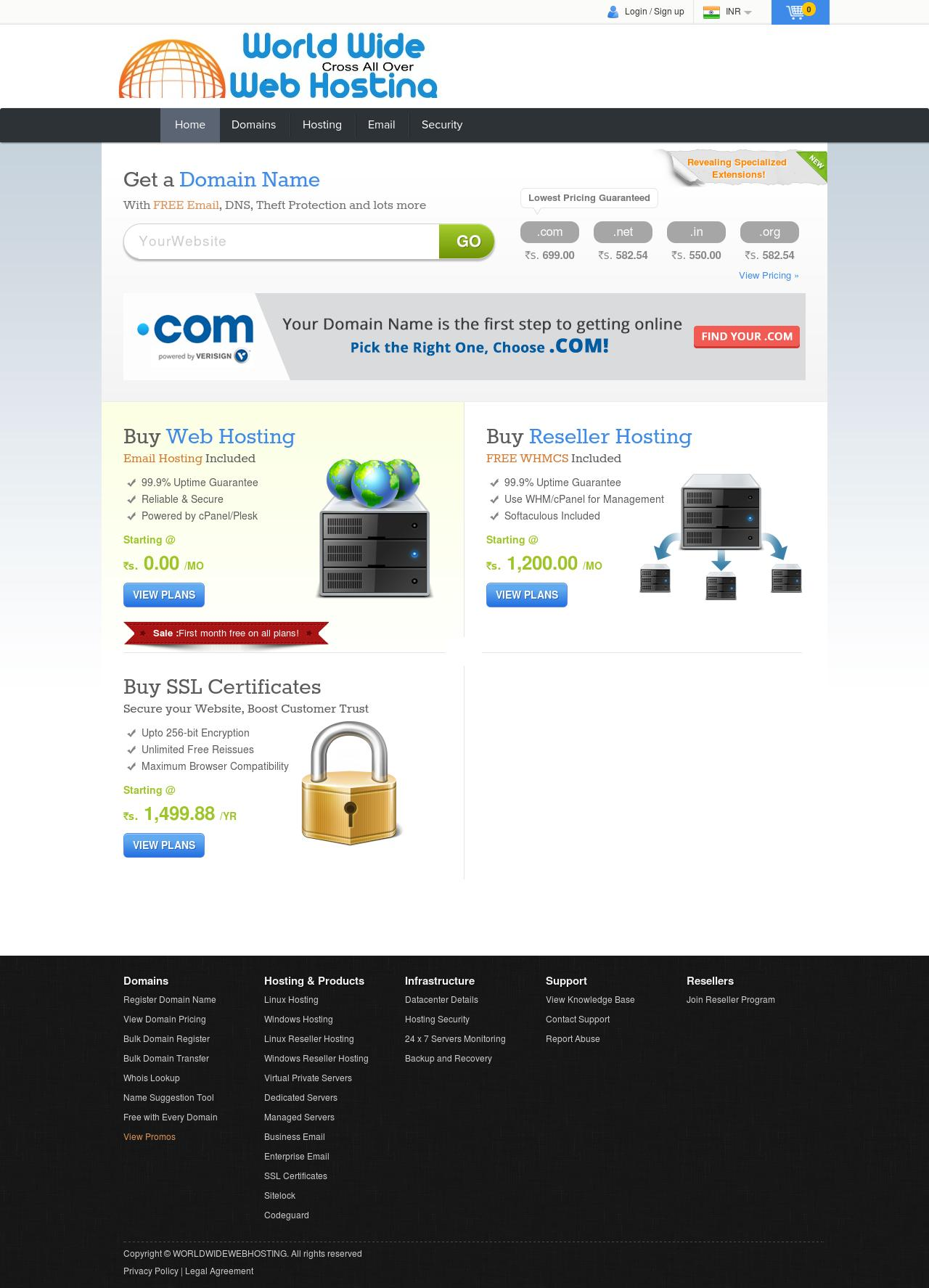 give web hosting with domain renewal