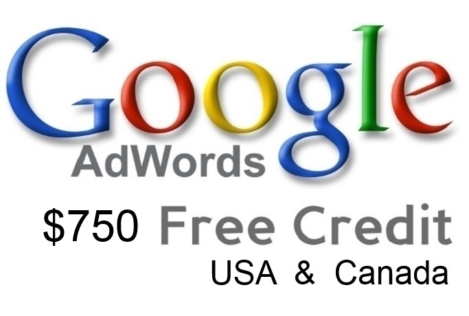 give 750 USD Google Adwords Coupon Codes Promotional Voucher 10x75 Coupons for USA Canada
