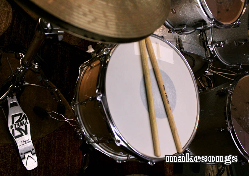 record live acoustic drum track for you
