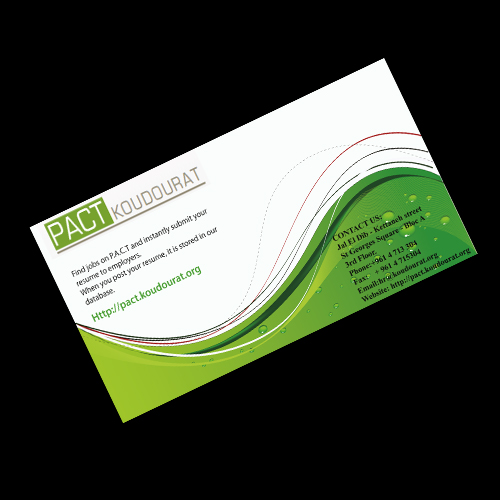 create 2 sided business card