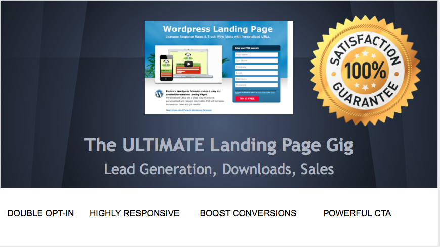 create the ULTIMATE landing page for lead generation / Conversion