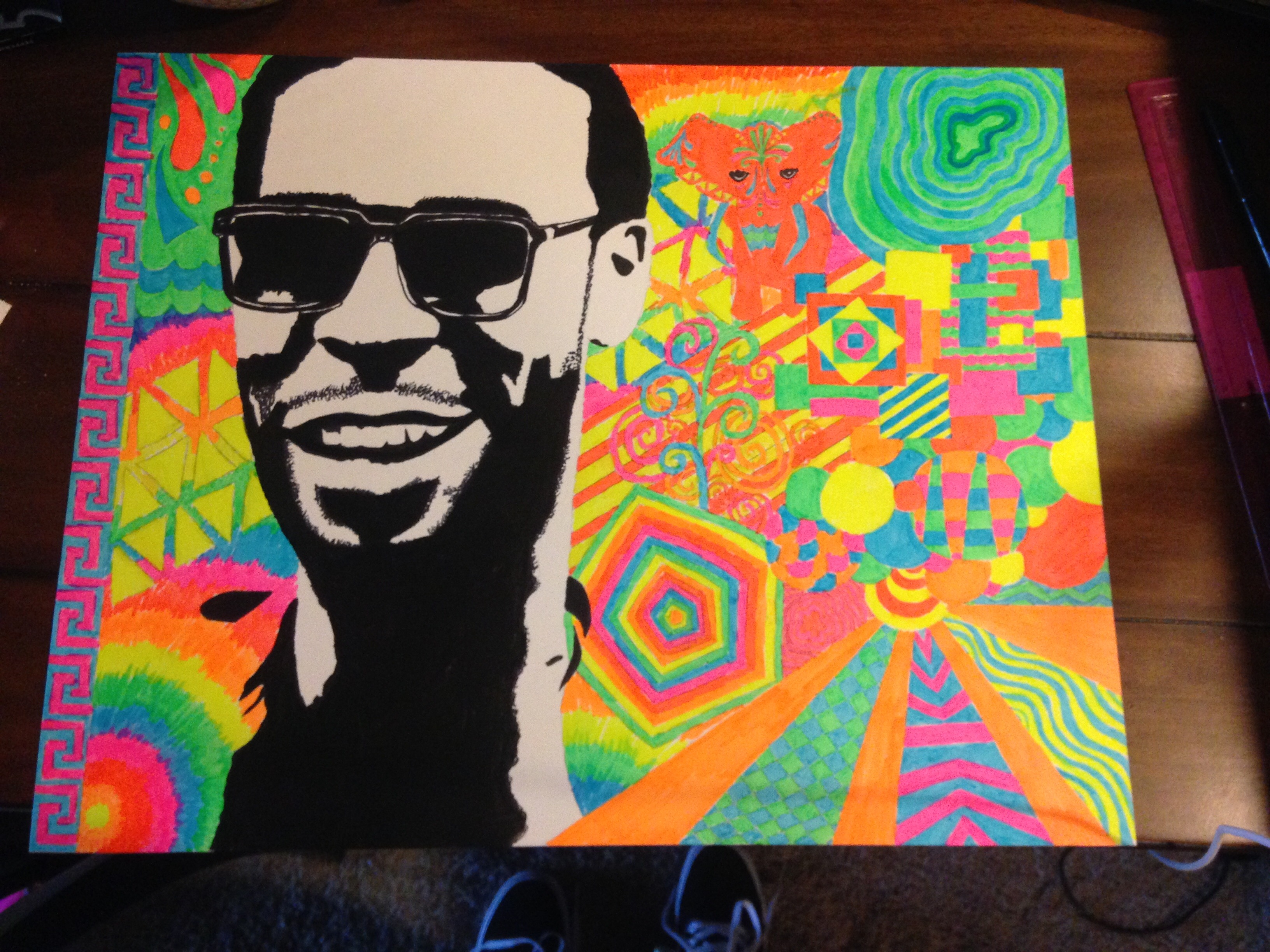 create neon drawings of your favorite celebrity