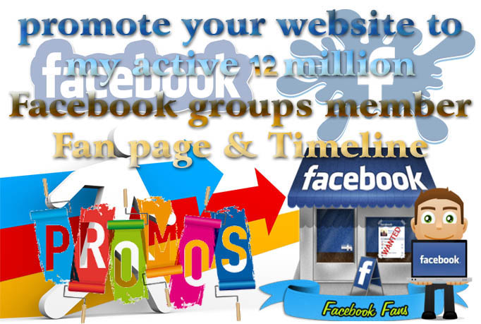 promote your WEBSITE to my active 12 million Facebook groups