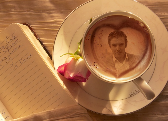 put your picture on a cappuccino