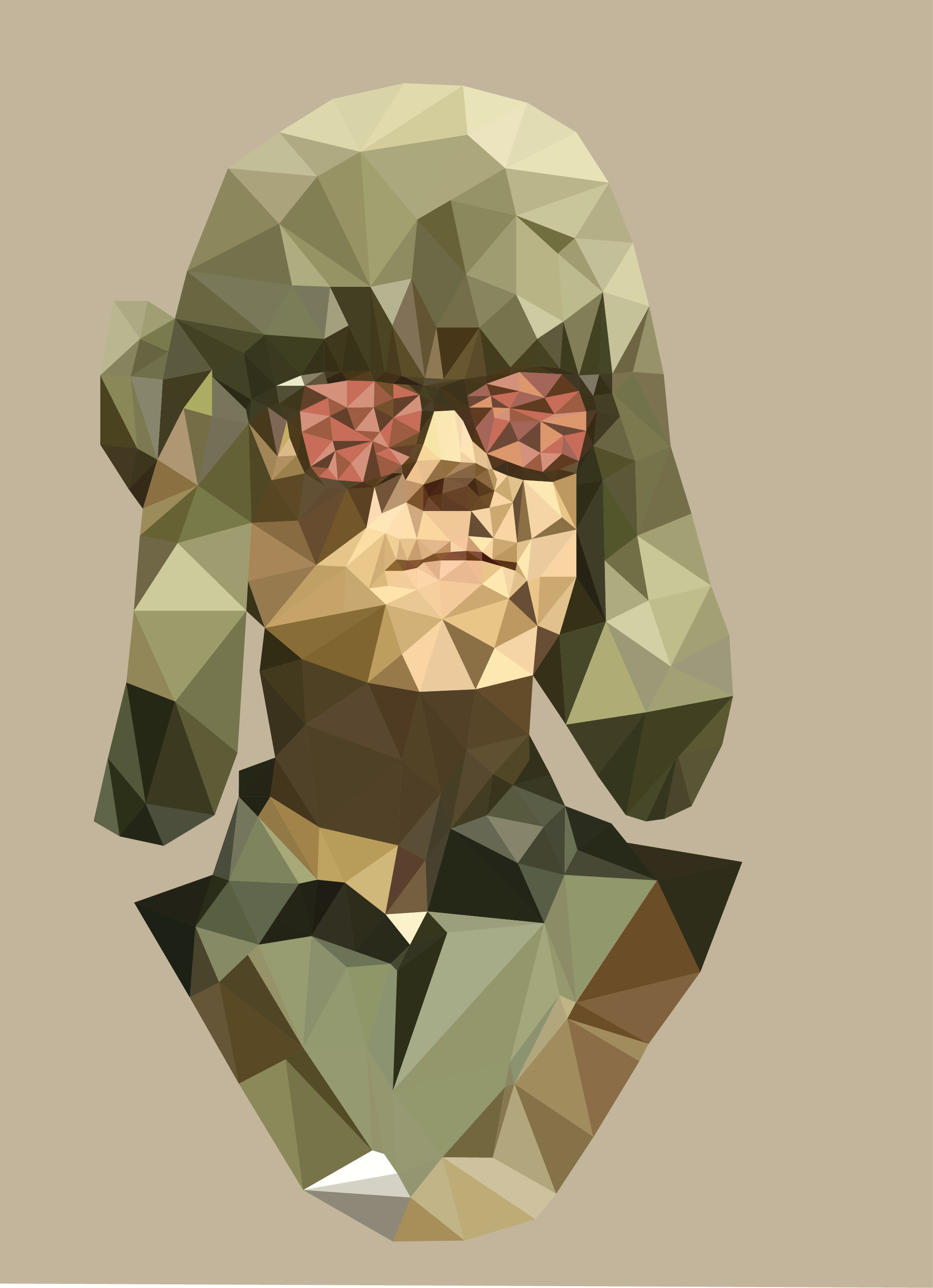 Create a hd low poly pic of you