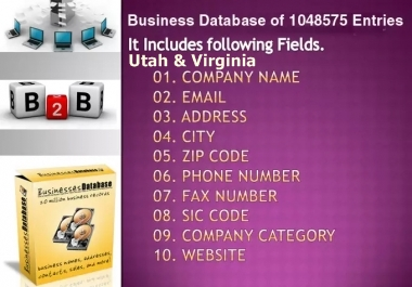 email lists of Utah & Virginia Business Directory