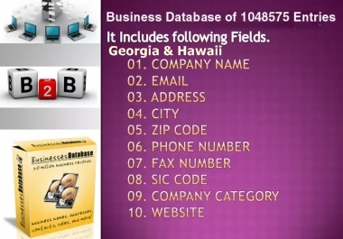 email lists of Georgia & Hawaii Business Directory