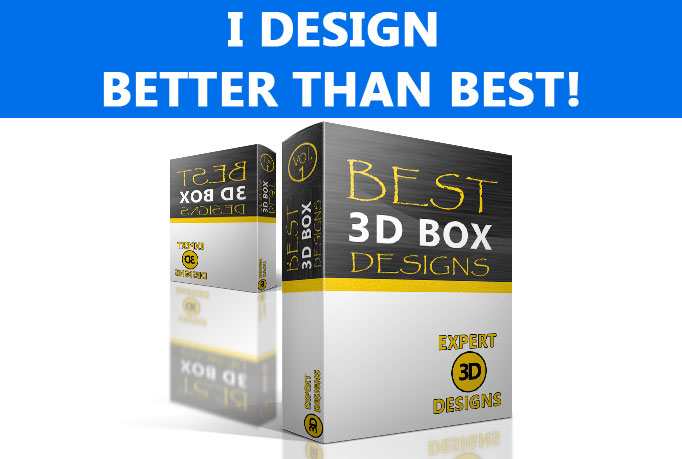 create super STUNNING 3D box mockup for your products