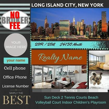 create a Real Estate designer flyer to promote your business