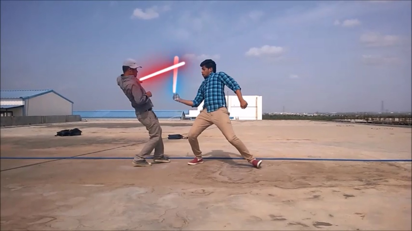 Create Light Sabers From StarWars to your Videos