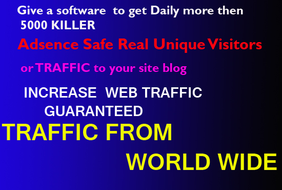 send a software 2 get daily 5000 Real TRAFFIC 2 ur Site