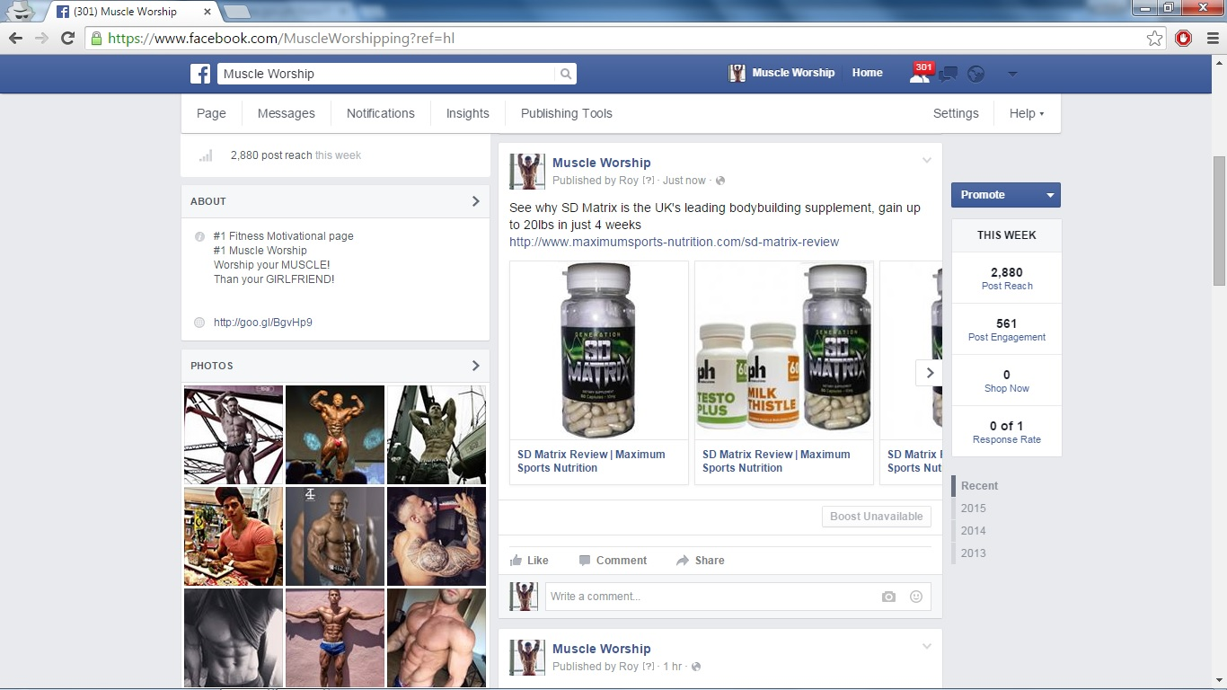promote your product and website to my fitness page for $5
