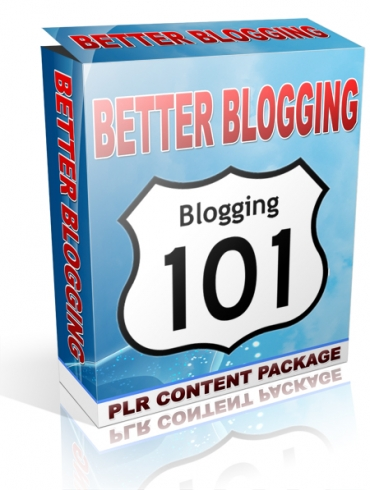 give Better Blogging PLR Content Package