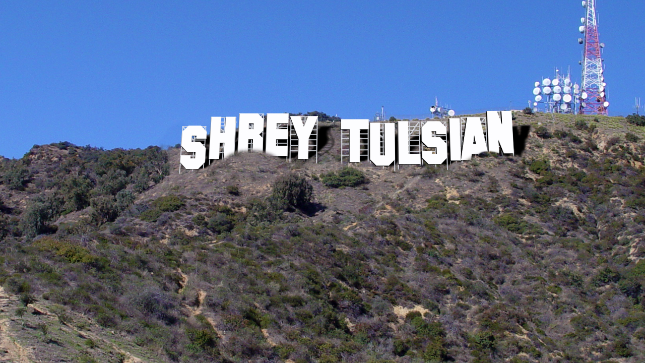 write your name on Hollywood hill