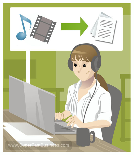 professionally transcribe up to 10 minutes of audio to text