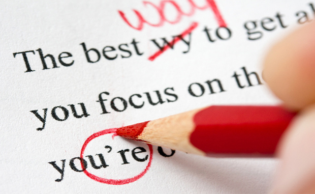 proof read ANY document in English, correcting any mistakes