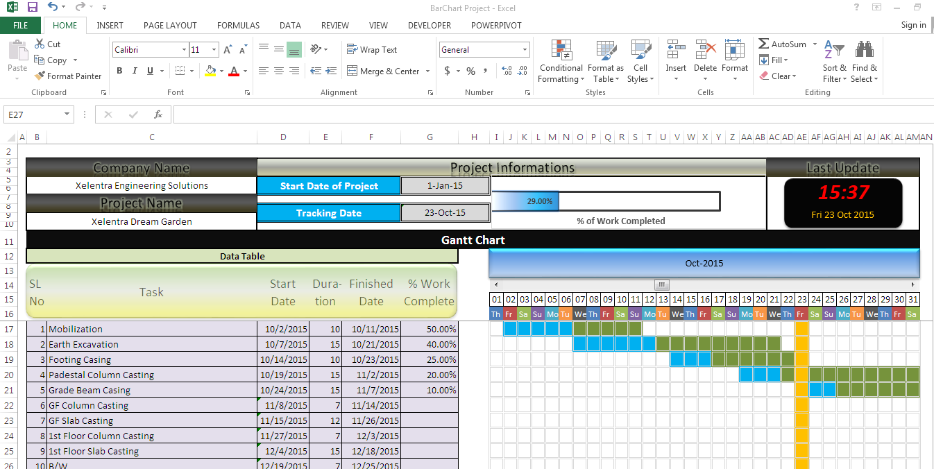 do your project tracker and solve excel related problem