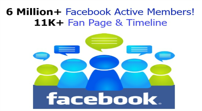 promote To 6 Million Facebook Active Members