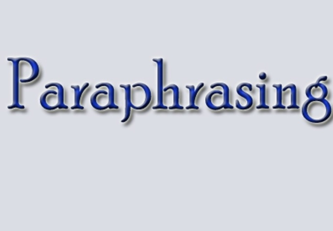 manually paraphrase, edit or proofread your documents