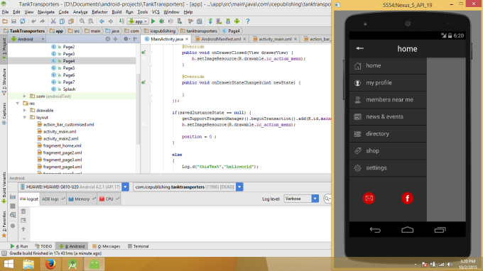 develop and android app on android studio