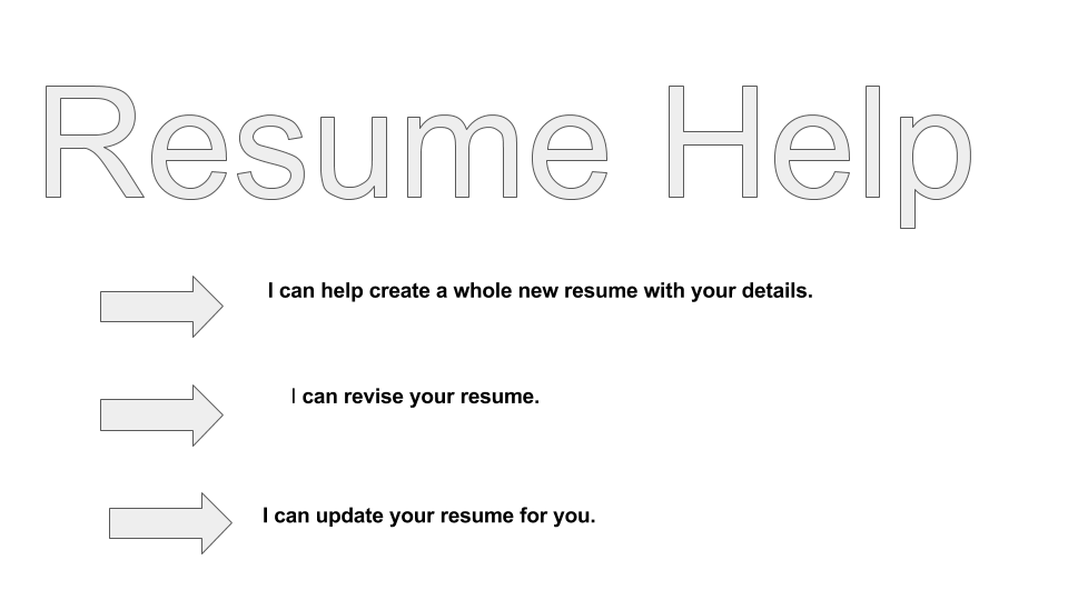 Help with your resume