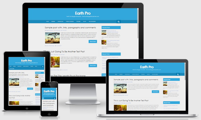 install and customize your blogger template